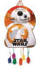 STAR WARS BB-8 GIANT PULL-STRING PINATA & Blindfold Mask (Birthday/Party Games)
