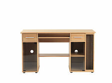 San Jose Beech and Glass Workstation with Storage