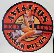 """Aviation Spark Plugs Decal Approx.13"""" *Gas & Oil"""