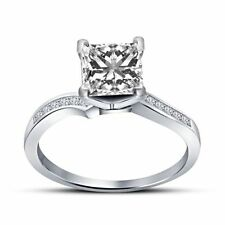 Diamond Princess Solitaire with Accents Fine Rings