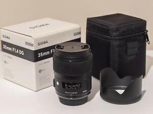 Sigma 35mm f1.4 DG HSM Art Lens Nikon F Mount Boxed