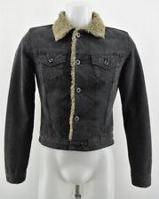 Diesel Femmes Veste D'extérieur Chauffé Doublure noir à col manteau taille S