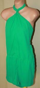 Womens Green Halter Jumpsuit BNWOT - BCBGMaxazria - Size M