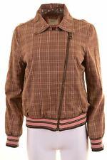 PEPE JEANS Womens Bomber Jacket Size 18 XL Multi Check Cotton  LA07