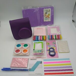 For Fujifilm Instax Mini 8 9 Case Carry Bag 10-IN-1 Camera Accessory Kit Purple