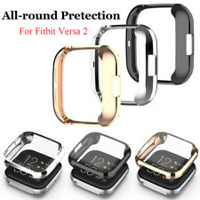 For Fitbit Versa 2 Silicone Shockproof All-Around Screen Protector Case Cover US