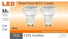 Led GU10 Bulb 5.5W Dimmable 600 lm 6000K Cool White CETL Certified Pack of 12Pcs