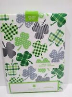 "Storehouse St. Patricks Day Shamrock Green Fabric Tablecloth Decor 60""x84"""