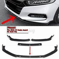 Carbon Fiber Front Bumper Lip Spoiler Splitter Protector For Honda Accord 18-20