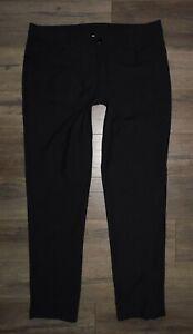 New Mens LULULEMON Black ABC Warpstreme Classic Stretch Chino Pants size 36 x 34