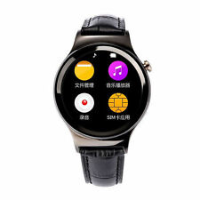 Faux Leather Band Stainless Steel Case Smart Watches