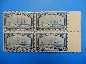 "#204 MNH (but damaged gum) block of 4 well-centred ""Royal William""     CV=$24.00"