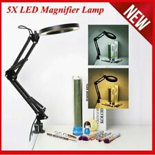 LED 5X Magnifying Lamp Makeup Manicure Tattoo Magnifier Warm Cold Beauty Light