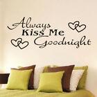 Always Kissme Goodnight Home Decor Wall Sticker Decal Bedroom Vinyl Art .-jca Sk