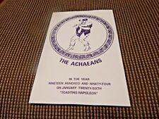 Krewe Of ACHAEANS 1994 Ball Program invitation Mardi Gras New Orleans