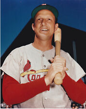 STAN MUSIAL CARDINALS HOF OFFICIAL MLB BASEBALL COLOR UNSIGNED 8X10 PHOTO