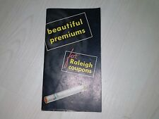 Raleigh Premiums Coupon Book Volume # 1  Rare Find