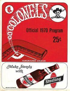 1970 Louisville Colonels-Columbus Jets Program International League NICE!!