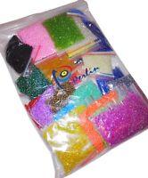 1kg Rocailles 2/3/4 mm Glasperlen Mixfarben set Schmuck Basteln Seed Beads