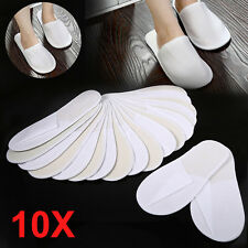 10 Pairs Slippers SPA Hotel Guest Slippers Towelling Disposable Non-woven Fabric