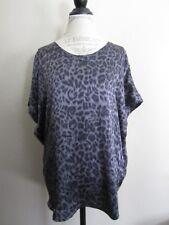 Joie Joann Gray Leopard Animal Print Silk Tunic Top Blouse XS EUC