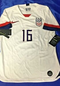 USA WOMENS SOCCER Genuine Nike JERSEY Home White 16 LAVELLE MENS XL NWT