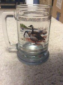 Vintage Princess House Crystal Glass Mug Beer Stein Mallard Ducks 12 oz.
