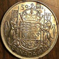 1940 CANADA SILVER 50 CENTS COIN