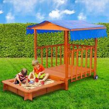 BRAST Sandkasten verstellbares Dach Sandkiste Spielhaus Sitzbänke  2.Wahl