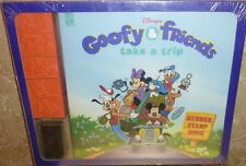 GOOFY & FRIENDS TAKE A TRIP Walt Disney Rubber Stamp Pad & Book Set Sealed New
