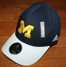NWT University of Michigan Wolverines Adidas Sideline Hat Cap Stretch Fitted *T1