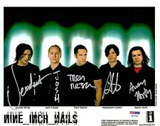 Nine Inch Nails Band TRENT REZNOR +4 Signed 8x10 Photo JSA & PSA/DNA #Y87749
