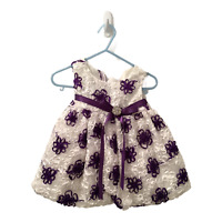 Toddler Girl Size Small Spring Party Dress Easter Special Occasion White Purple