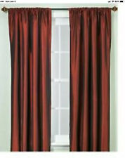 "PRETTY BURGUNDY SILK LOOK DRAPES WITH HOOPS 84""LONG PERI"