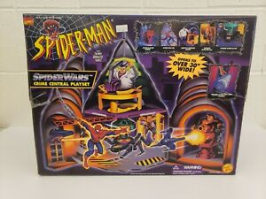 Spiderman the Animated Series Spider Wars Crime Central Playset RARE