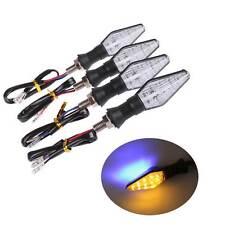 4x Motorcycle Turn Signal Bright LED Warning Light Amber/Blue For Honda Yamaha