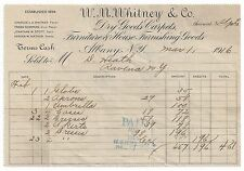 Old invoices. W.M. Whitney & Co., March 1,1916 Dry Goods Carpets. (BI#PB76).