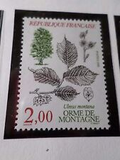 FRANCE 1985, timbre 2385, FLORE ARBRE, TREE, ULMUS MONTANA, neuf** VF MNH STAMP