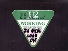 U2 The Joshua Tree Tour - backstage pass working personnel