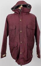 Woolrich Vintage USA Wool Lined Zip Hooded Parka Jacket Burgundy Mens Large 80's