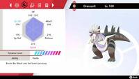 Pokemon Sword and Shield Ultra Shiny Dracozolt 6IV Fast Trading
