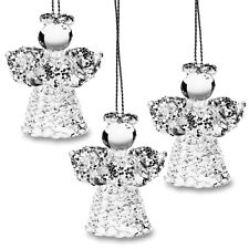Sikora Bs406 Christmas Tree Decoration Glass Ornament Angel with Heart Set New