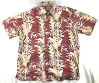 Cooke Street Honolulu Men's Hawaiian Tropical Shirt 100% Cotton Size Bamboo