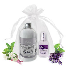CALM & RELAX – AROMATHERAPY BATH SALTS & PILLOW SPRAY GIFT SET
