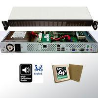 Dual Core 1HE / 1U Rack Server AMD Opteron 64bit 2.00GHz 4GB RAM 2 x 250GB HDD