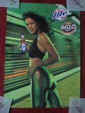 Sexy Girl Beer Poster Miller Lite Mgd ~ Subway Platform Bullet Train