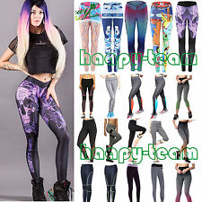 Womens Yoga Fitness Clothes Leggings Gym Stretched Sports Pants Trouser Exercise
