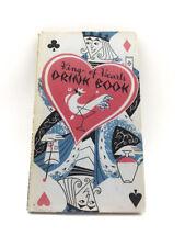 1955 King of Hearts DRINK BOOK Peter Pauper Press Book HC