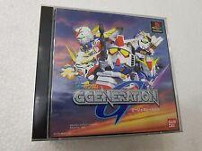 PSX SONY PLAYSTATION JAP NTSC SD GUNDAM G-GENERATION - BANDAI -NO SPINE