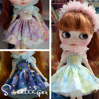 "【Tii】Unicorn dress outfit 12"" 1/6 doll Blythe/Pullip/azone Clothes Handmade girl"
